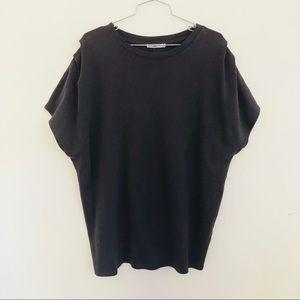 Zara gray dolman tunic top